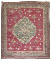 Antique Turkish Oushak Ghiordes Style Rug