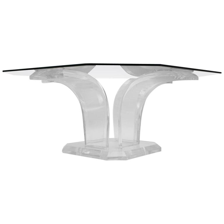 Lucite Coffee Table Attributed to Charles Hollis Jones, circa 1970