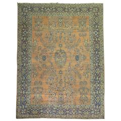 Antique Persian Yazd Carpet
