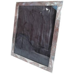 Tiffany Japonesque Sterling Silver and Copper Picture Frame