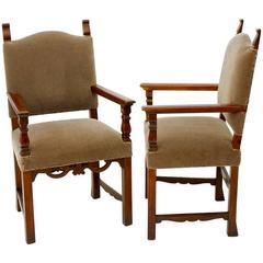 Italian Mohair Chairs (Pair)