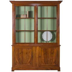 Antique French Cherrywood Louis Philippe Bibliotheque Bookcase, circa 1850