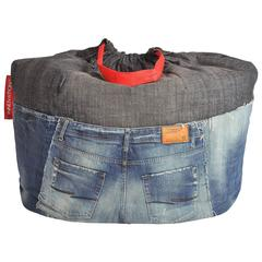 Unique Rock & Roll Style Denim Bean Bag by Breaad