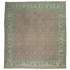 Antique Persian Tabriz Oriental  Rug