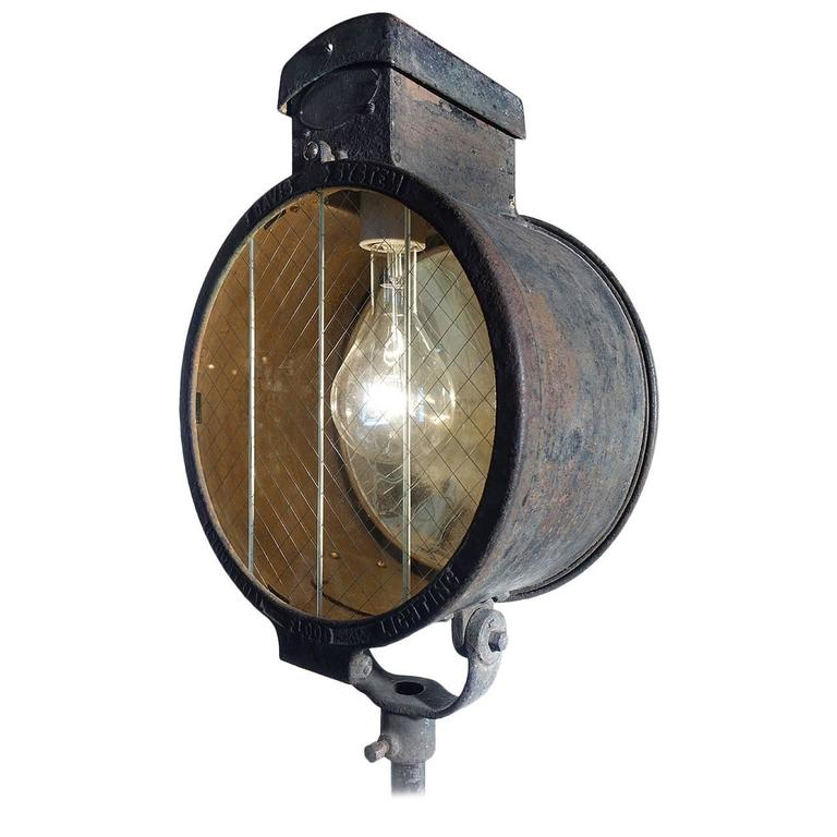 Impressive And Early Western Electric Davis Floodlight For