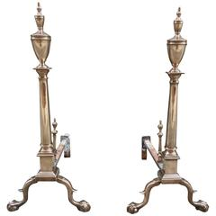 Pair of Late 19th Century Andirons PA or NY
