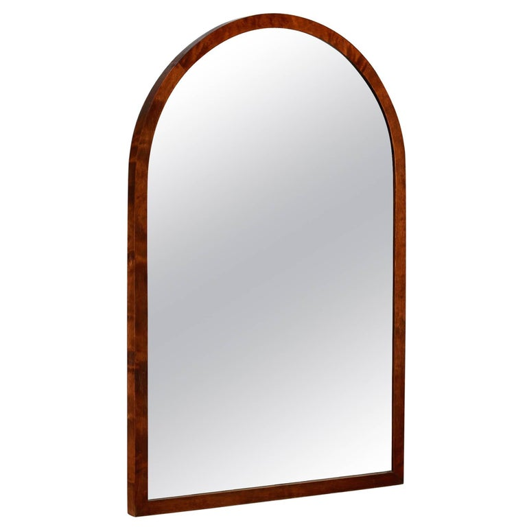Svenska Möbelfabrikerna Birch Wall Mirror, Bodafors, Sweden, 1930s For Sale