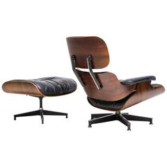 Early Herman Miller Eames Rosewood 670/671 Lounge Chair and Ottoman