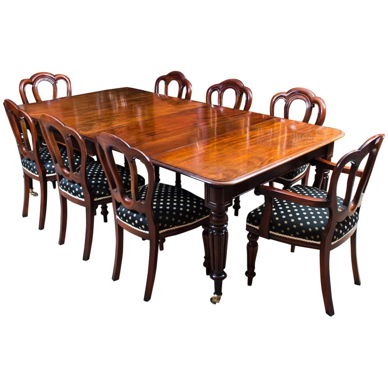 Antique Mahogany Dining Room Furniture: Antique Regency Mahogany Dining Table Eight Admiralty