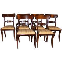 Set of Six Late Regency Mahogany Chairs