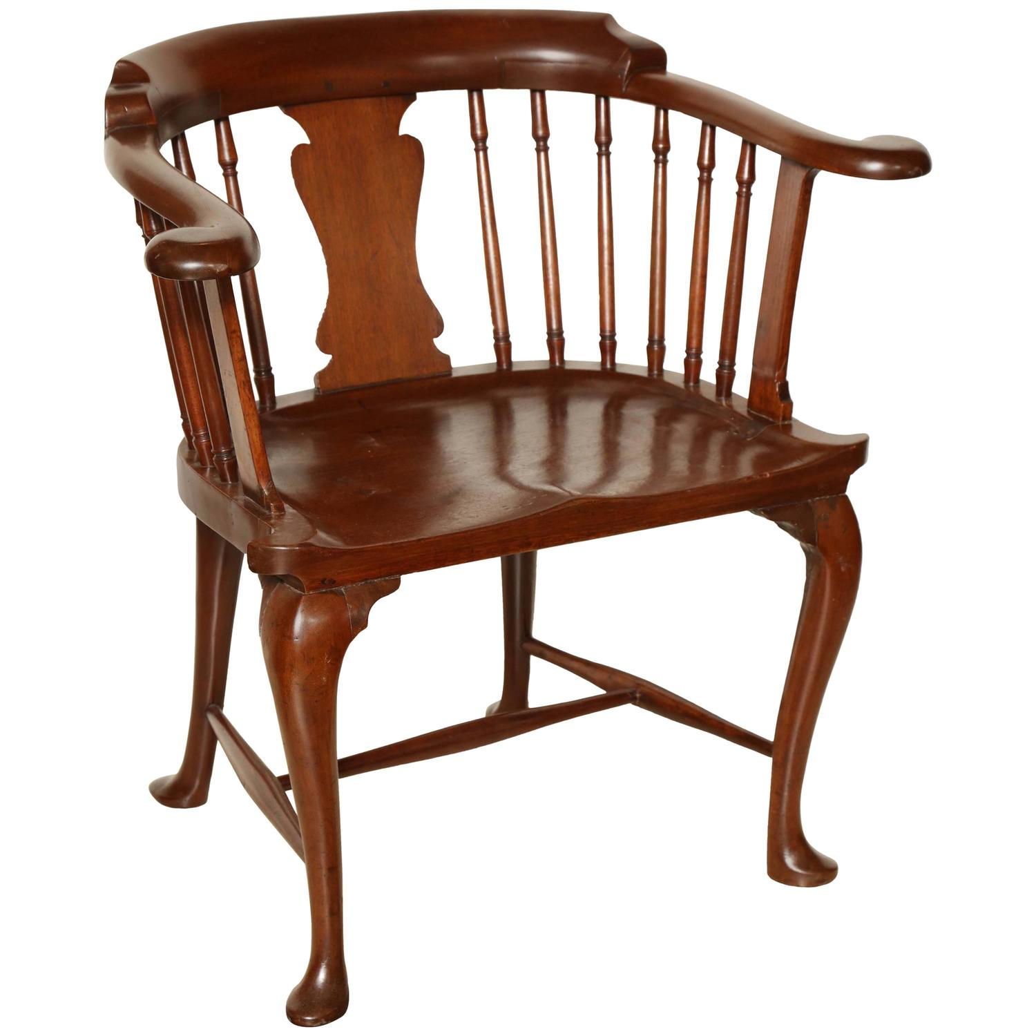Rare Mahogany Captain s Chair For Sale at 1stdibs