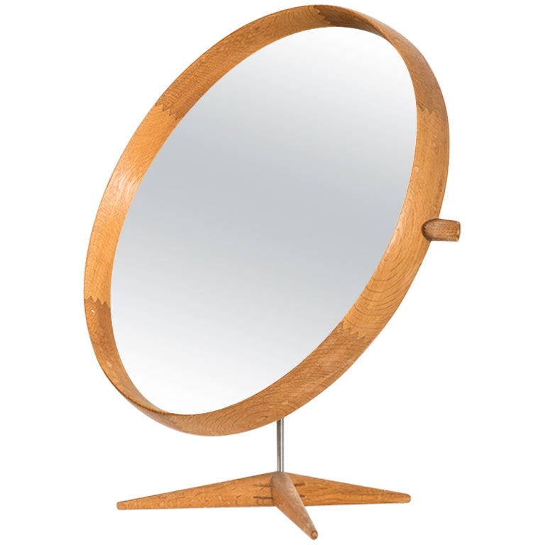 Uno & Östen Kristiansson Table Mirror Produced by Luxus in Sweden