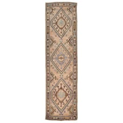 Long Vintage Turkish Runner Rug