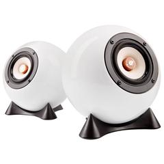 Pair of Handcrafted Porcelain Ball Speakers by Augarten Vienna