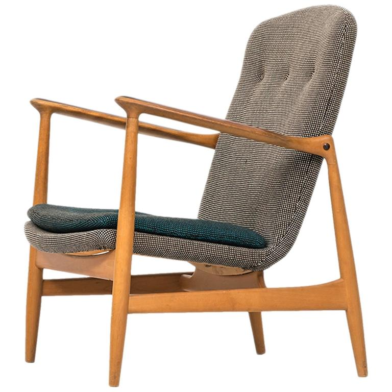 Rare Easy Chair Designed by Finn Juhl and Produced by Bovirke in Denmark 1
