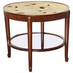 Circular Two-Tiered Low Table by Giuseppe Anzani