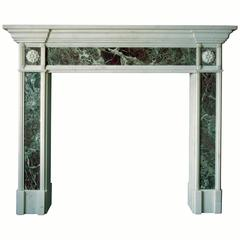 19th Century Regency Mantel with Green Marble Inlays