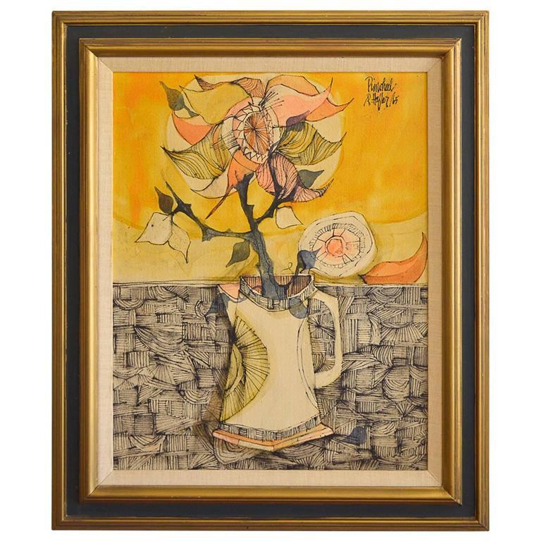 Original Etching Titled 'Pinwheel' by R. Hefler