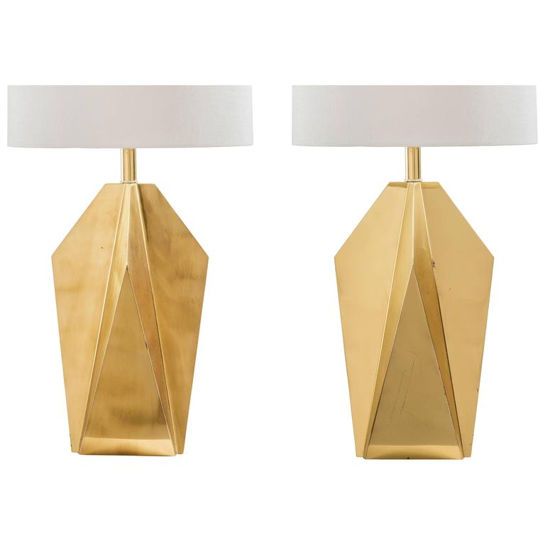 brass table lamps amazon pair geometric bedside uk antique