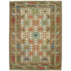 Colorful Antique Caucasian Rug
