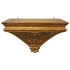 Italian 18th Century Wall Suspended Console