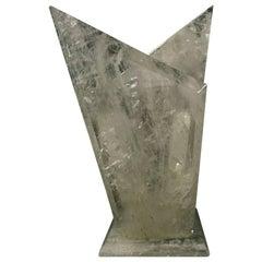 Modern Hand-Carved Rock Crystal Vase