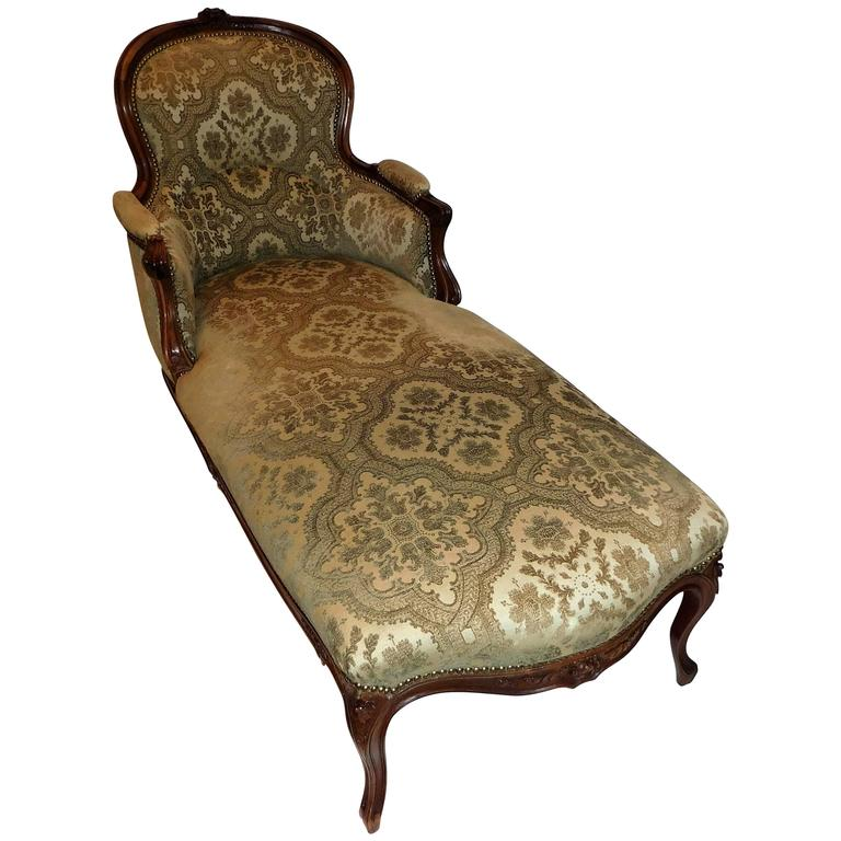 Louis xv style chaise longue at 1stdibs for Chaise louis xv