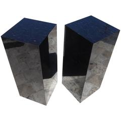 Tessellated Polished Horn Pedestals by Maitland-Smith