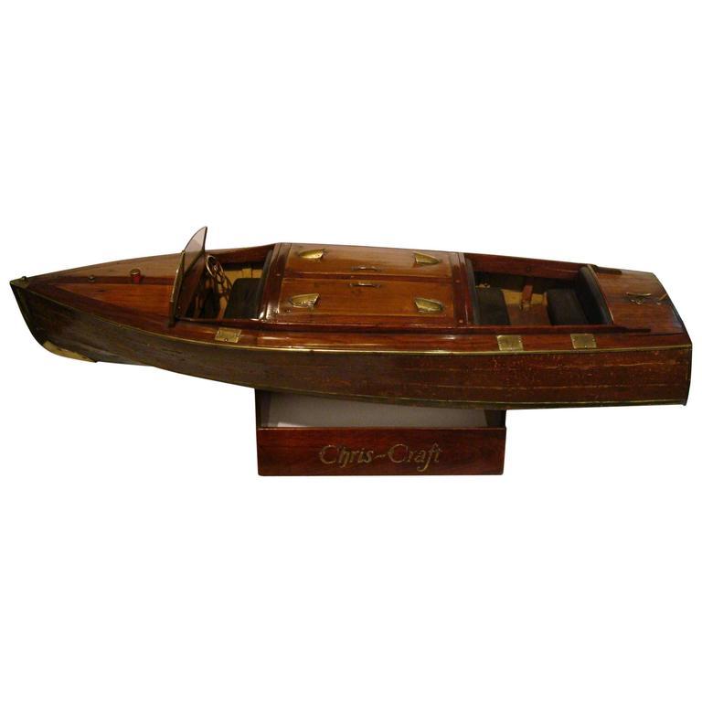 Chris Craft Speedboat Sales Model, circa 1930s Nautical For Sale
