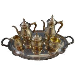 "Kensington by Gorham Sterling Silver Tea Set Six-Piece with ""D"" Monogram"