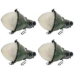 Set of Four Vintage Aluminum Street Lamps, circa 1940
