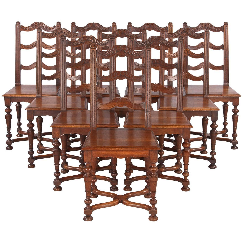 Set of 8 French Louis XIV Style Walnut Dining Chairs  : 5161823z from www.1stdibs.com size 1500 x 1500 jpeg 249kB