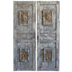 19th Century Painted and Parcel-Gilt Doors