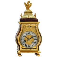 Late 17th Century Boulle Travelling Clock, Ourry à Paris