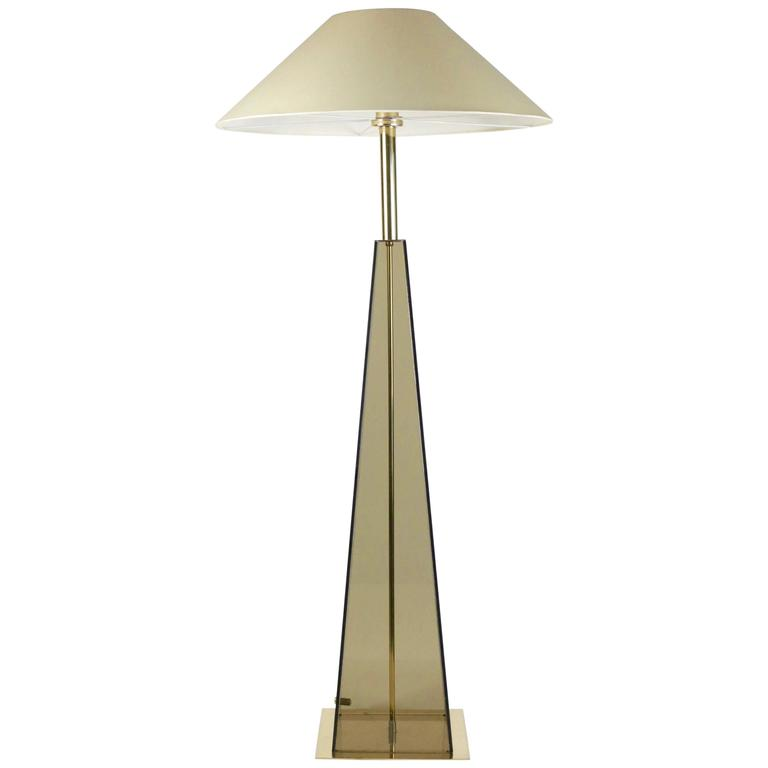 Elegant Floor Lamp Made to Measure in 1970s For Sale