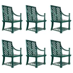 Rare Set of Six Chairs Attributed to Emilio Terry