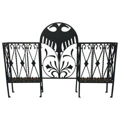 Dramatic Iron Hall Tree or Umbrella Stand in the Manner of Diederich