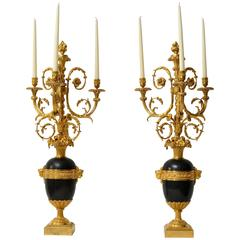 Important Pair of Louis XVI Candelabra Attributed to Francois Remond