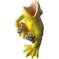 Jerome Massier, Majolica Musician Frog, circa 1900