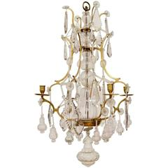 Small Swedish Rococo Chandelier Signed by Olof Westerberg, Stockholm, 1793