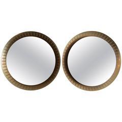 Pair of Circular Stilnovo Mirrors