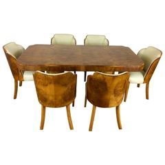 Art Deco Cloud Design Dining Table and Chairs in a Stunning Maple