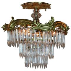 Semi Flush Mount Crystal Ceiling Light
