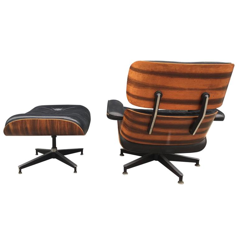 this eames lounge chair for herman miller in high contrast brazilian