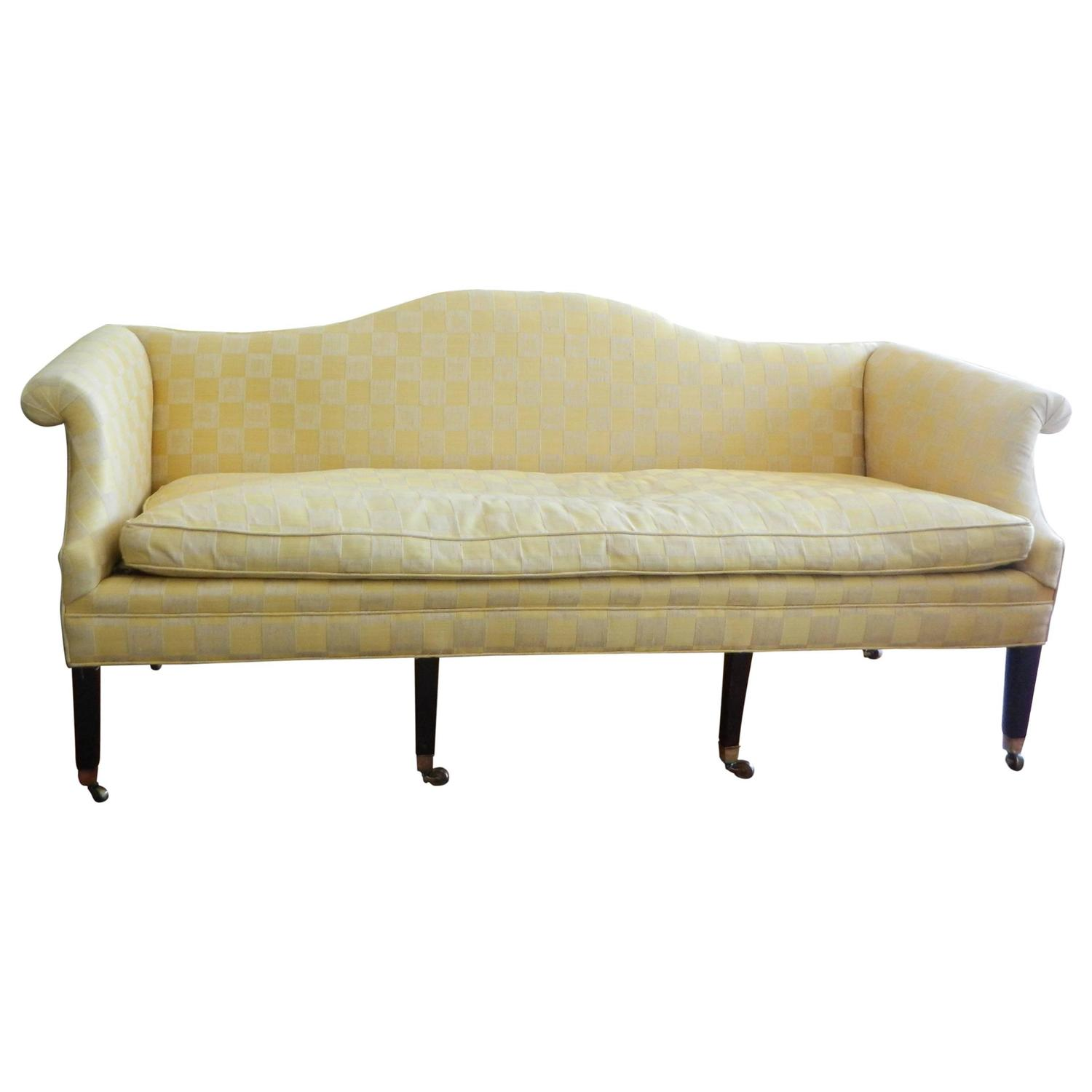 American Fine Chippendale Federal Style Upholstered Sofa Circa 1780 For Sale At 1stdibs