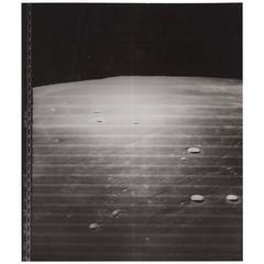 Lunar Orbiter Vintage Gelatin Silver Print by NASA