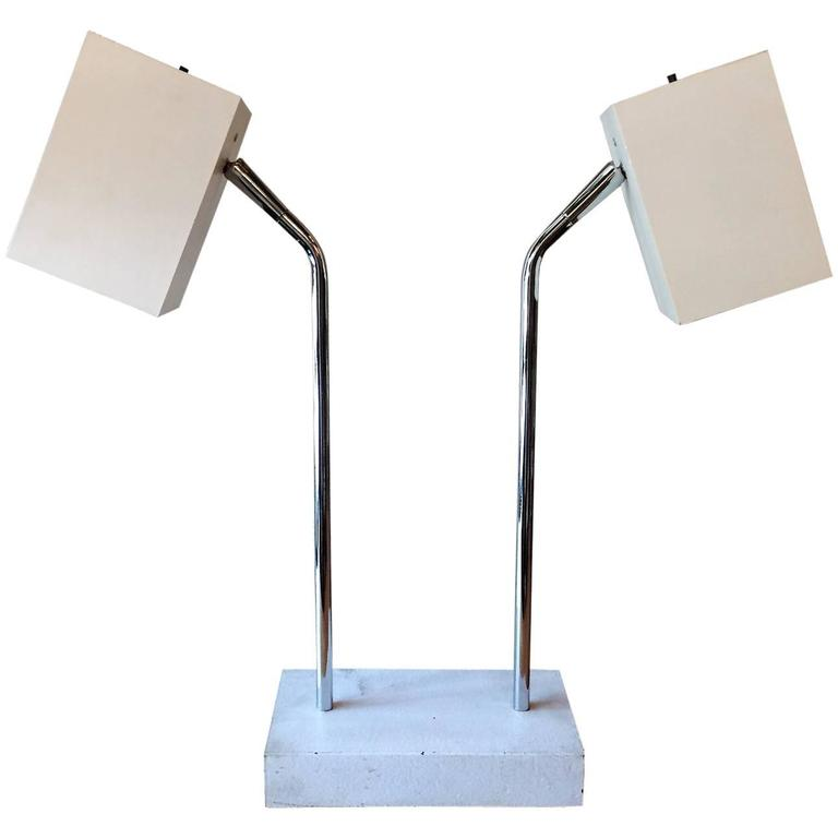 Robert Sonneman for George Kovacs Double Headed Table Lamp