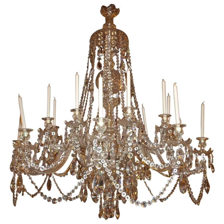 Antique Chandelier, All Crystal Russian Chandelier For Sale - Antique Chandelier, All Crystal Russian Chandelier For Sale At 1stdibs