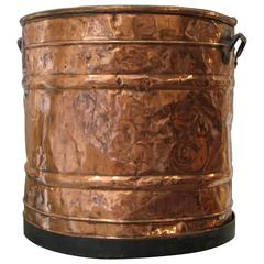 Large Dented Copper Container