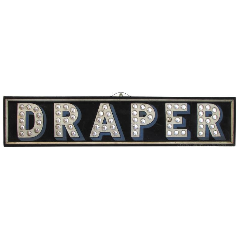 """""""Draper"""" Trade Sign"""